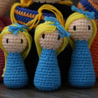 3 prinsesjes gehaakt haakatroon