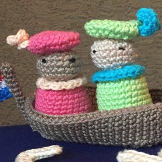 pieten op een boot haakpatroon
