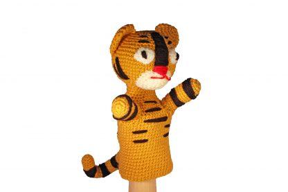 Gehaakte handpop tijger