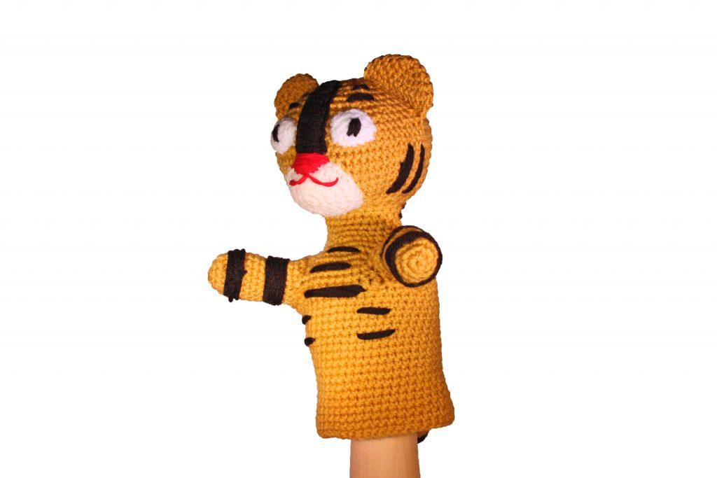 handpop tijger haken