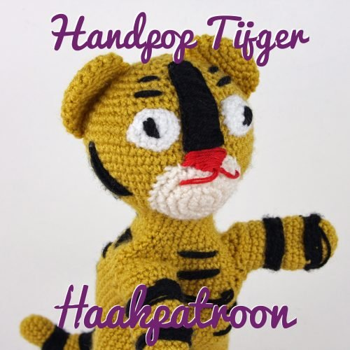 Haakpatroon Handpop Tijger Haked