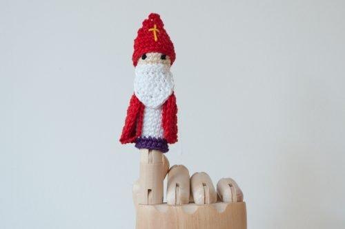 Vingerpoppetje Sinterklaas Haked