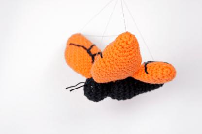 oranje vlinder gehaakt vera